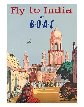India by BOAC c.1955