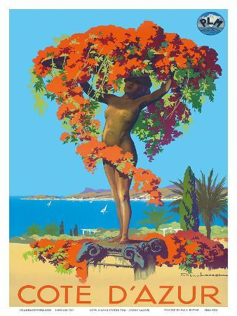 Cote D'Azur Statue PLM c.1935