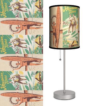 Surfing Hawaiian Tours - Table Lamp