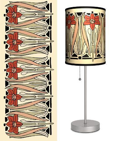Art Nouveau Beige - Table Lamp