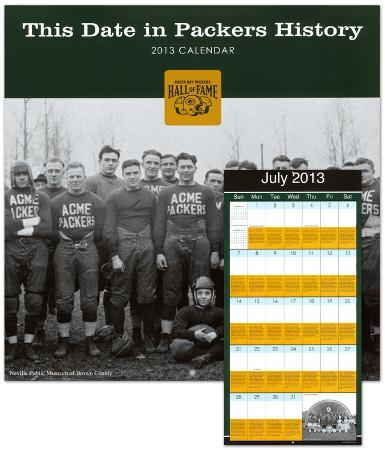 Green Bay Packers Hall of Fame - 2013 Wall Calendar