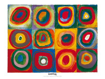 Colour Study - Squares And Concentric Circles