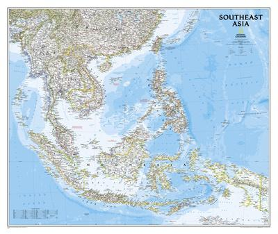 National Geographic - Southeast Asia Map Poster