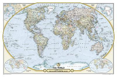 National Geographic - National Geographic 125th Anniversary World Map Map