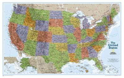National Geographic - United States Explorer Map Laminated Poster