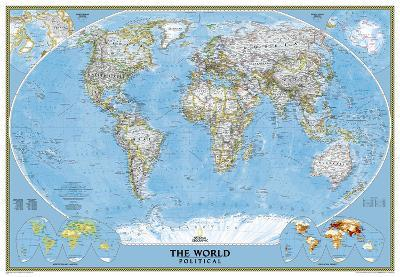 National Geographic - World Classic Map, Enlarged & Laminated Poster