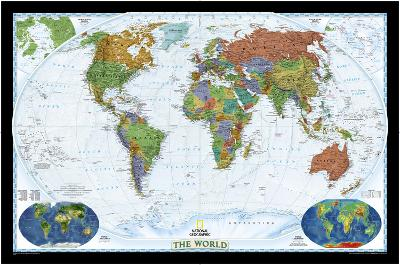 National Geographic - World Decorator Map, Enlarged & Laminated Poster