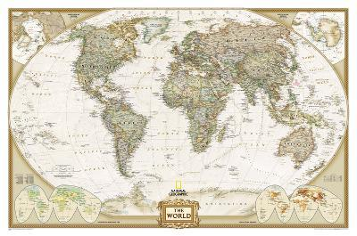National Geographic - World Executive Map Laminated Poster