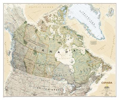 National Geographic - Canada Executive Map Laminated Poster