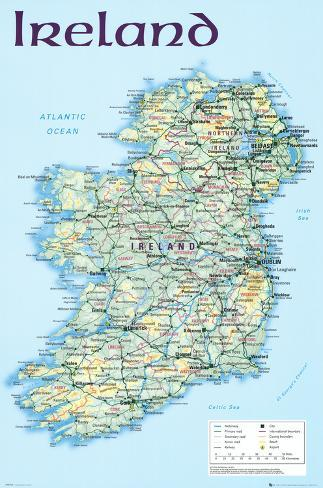 picture relating to Ireland Map Printable known as Map of Eire