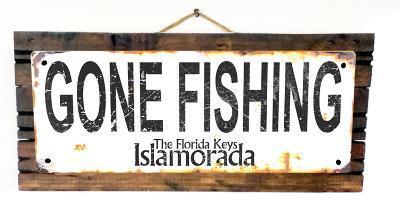 Gone Fishing Islamorada Rusted