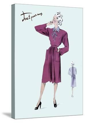 Magenta Dress, 1947