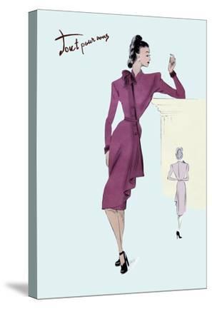 Flap Over Button Dress, 1947