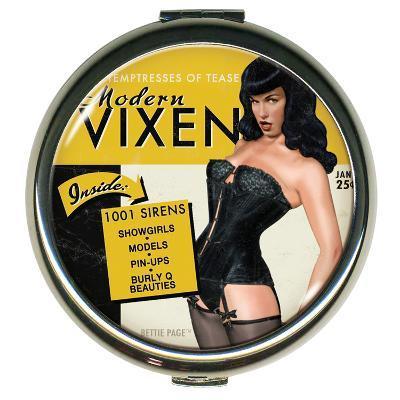 Bettie Page Modern Vixen Round Compact