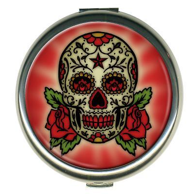 Sugar Skull Round Compact