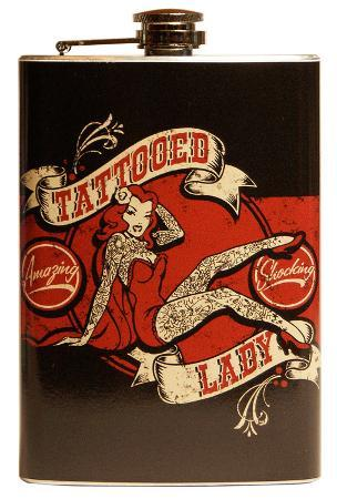 Tattooed Lady Flask