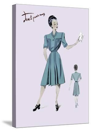 Casual Dress in Turquoise, 1947