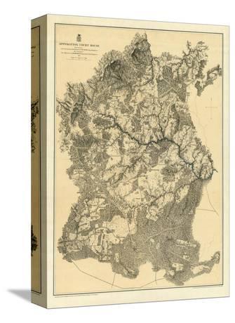 Civil War Map: Appomattox Court House, c.1869