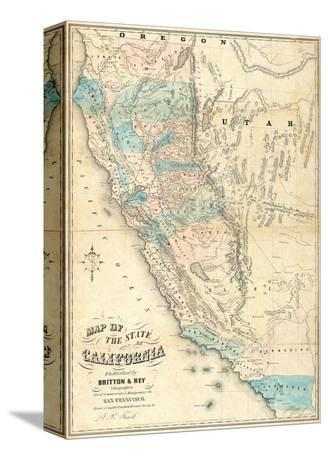 Map of the State of California, c.1853