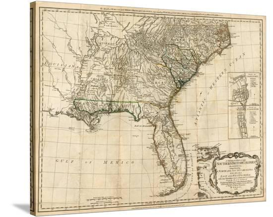 General Map Of The Southern British Colonies In America C 1776