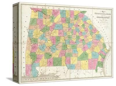 Map of Georgia and Alabama, c.1839