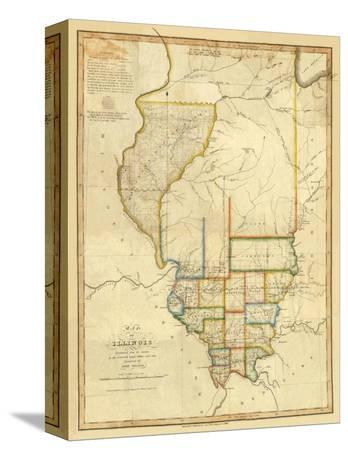Map of Illinois, c.1820