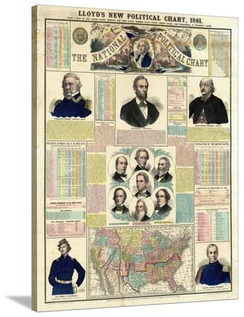 The National Political Chart, Civil War, c.1861