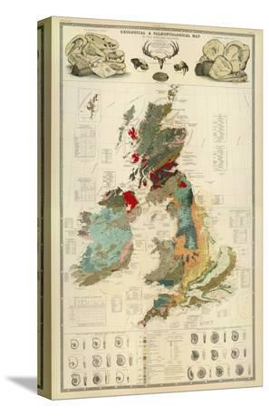 Composite: Geological and Palaeontological Map of the British Islands, c.1854