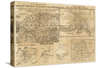 Important Operations in Kentucky and Tennessee, c.1861