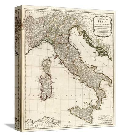 New Map of Italy with the Islands of Sicily, Sardinia and Corsica, c.1790