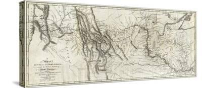 Map of Lewis and Clark's Track, Across the Western Portion of North America, c.1814