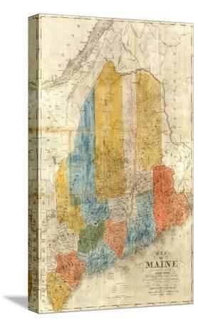 Map of Maine, c.1843