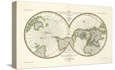 Karte Der Magnetischen Meridiane und Parallel-Kreise, c.1840