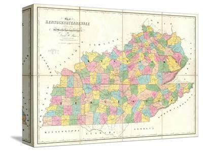 Map of Kentucky and Tennessee, c.1839