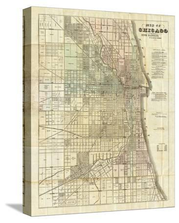 Map of Chicago, c.1857