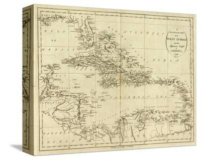 Map of the West Indies, c.1796