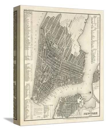 New York, Plan, c.1844