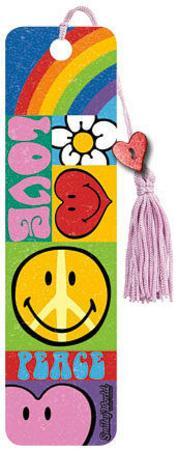 Smiley World - Hippy Beaded Bookmark