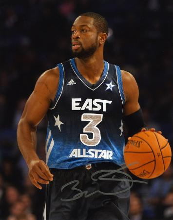 Dwyane Wade Miami Heat All-Star Game Autographed Photo (Hand Signed Collectable)