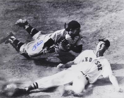 Yogi Berra New York Yankees with Ted Williams Autographed Photo (Hand Signed Collectable)