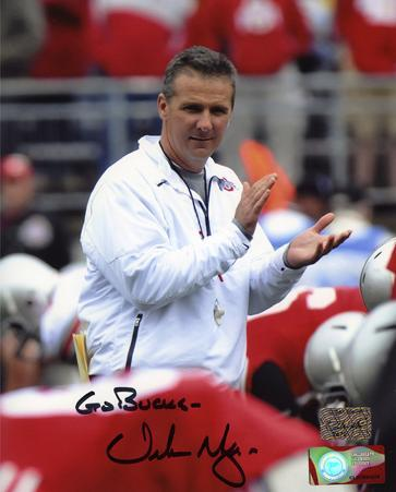 "Urban Meyer Ohio State Buckeyes with ""Go Bucks""  Autographed Photo (Hand Signed Collectable)"