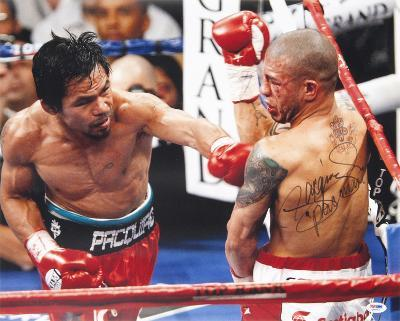 """Manny Pacquiao (Boxing) vs Miguel Cotto with """"Pacman""""  Autographed Photo (Hand Signed Collectable)"""
