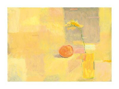 Orange With Yellow Flower