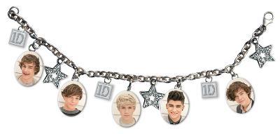 One Direction - 5 Head Shots Charm Bracelet