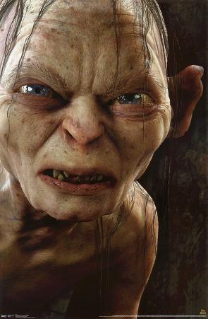 The Hobbit - Gollum Augmented Reality Poster