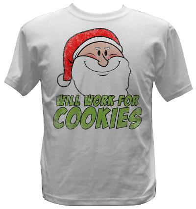 Youth: Santa - Will Work For Cookies