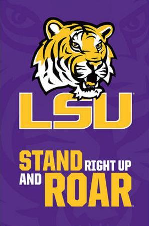 Louisiana State University Tigers NCAA Poster