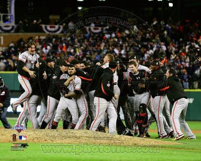 The San Francisco Giants Celebrate Winning Game 4 of the 2012 World Series