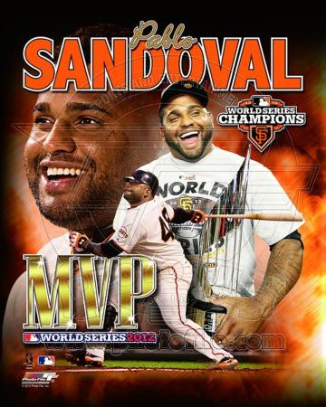 Pablo Sandoval 2012 World Series MVP Portrait Plus