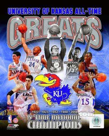 University of Kansas Jayhawks All Time Greats Composite
